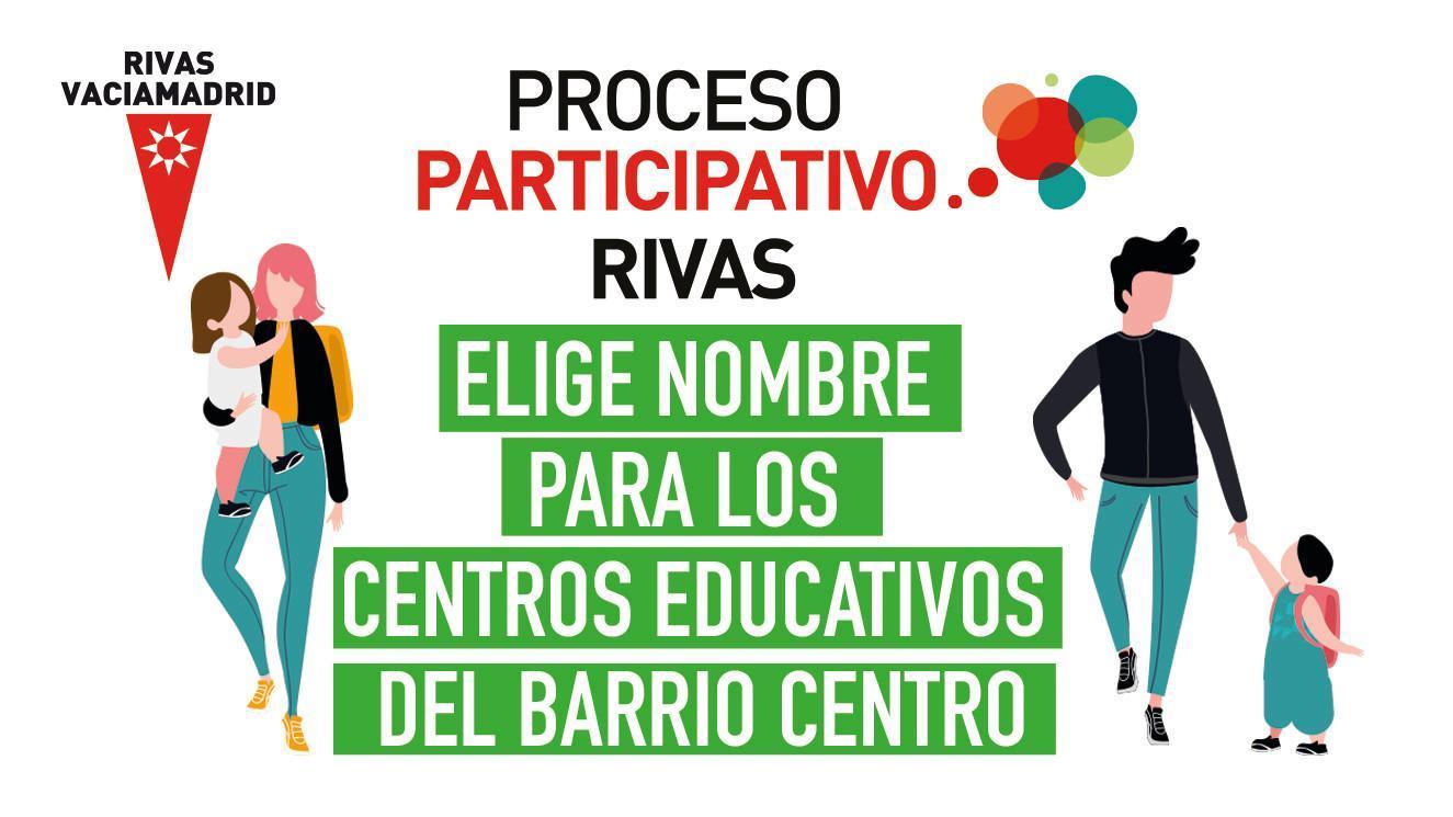 Propuestas de nombre para los nuevos centros educativos del barrio Rivas Centro