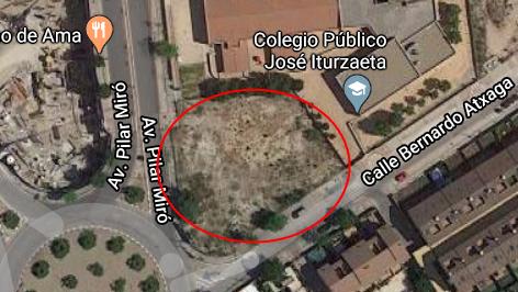 Parcela junto al Jose Iturzaeta para parque